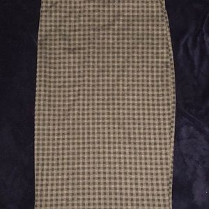 Le Chateau checked pencil skirt